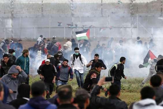 Manifestations massives à la frontière israélienne : quatre morts palestiniens