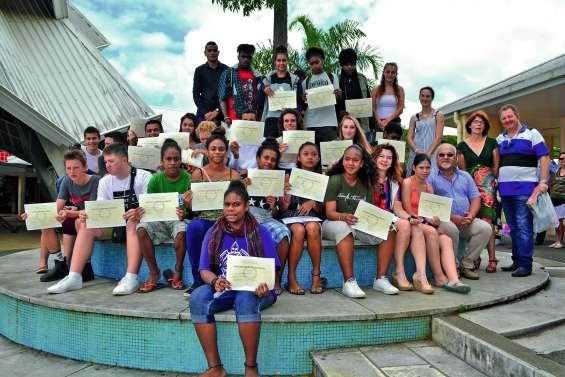 Les diplômés récompensés au collège