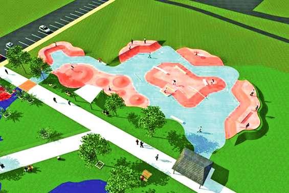 Le skate-park ouvre  ses portes, aujourd'hui