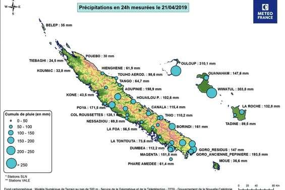Intempéries de Pâques : record de pluie à Lifou