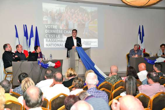 Le Rassemblement national en meeting