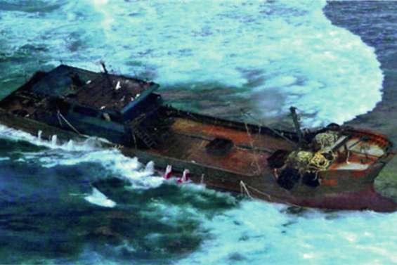 Un bateau « fantôme » échoué aux Chesterfield