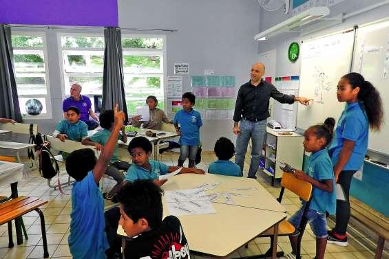 Un auteur en visite à l'école Mauricette-Devambez