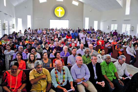 Bénie, la chapelle d'Apogoti s'est ouverte aux fidèles pour la messe de l'Ascension