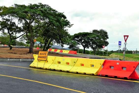 La bretelle d'entrée direction Païta fermée à Koutio