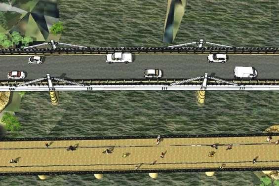 Un pont de plus au-dessus de la Dumbéa