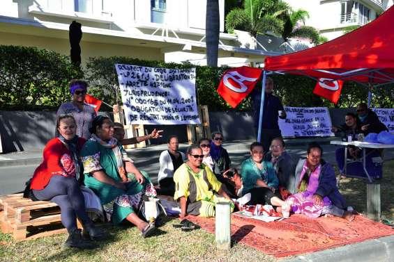 La CSTC-FO mobilisée devant l'hôtel Hilton
