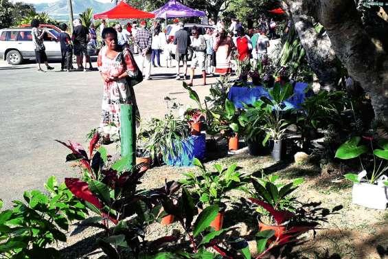 Les visiteurs ont fait une bonne récolte à la Fête du jardin