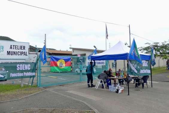 Les ateliers municipaux bloqués par quatre syndicats