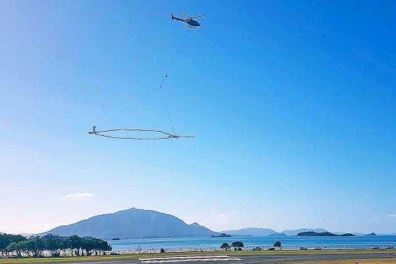 Les sols calédoniens sondés grâce à un hélicoptère