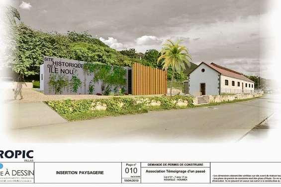 Un centre-visiteurs se construit sur le site historique de l'île Nou