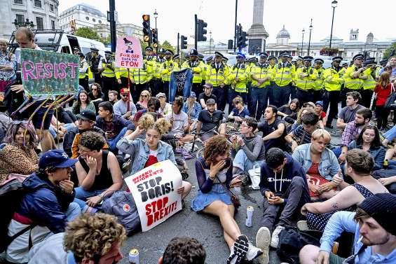 Brexit : manifestations contre le « coup d'Etat » de Boris Johnson