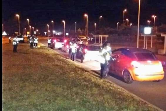 Une vaste opération  de contrôle routier  dans le Grand Nouméa
