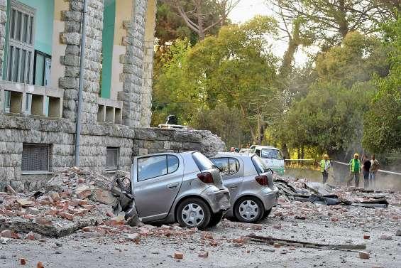 Fort séisme ressenti en Albanie, scènes de panique