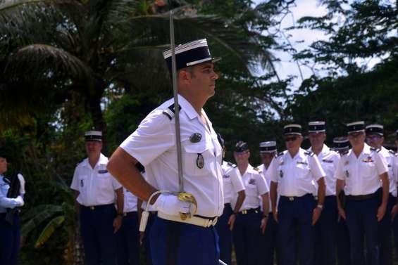 Prise de commandement à la gendarmerie de Poindimié