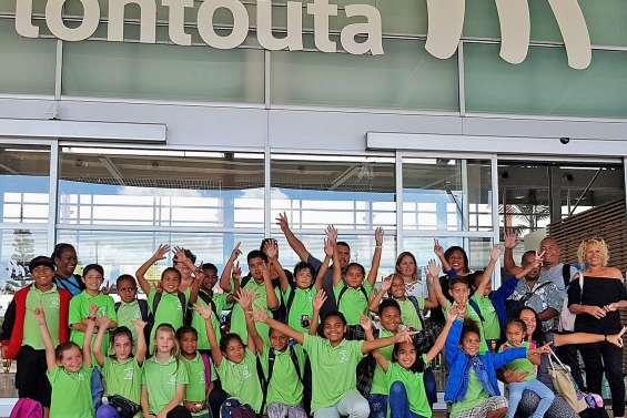 Des élèves de l'école Daniel-Mathieu sont partis à Huahine