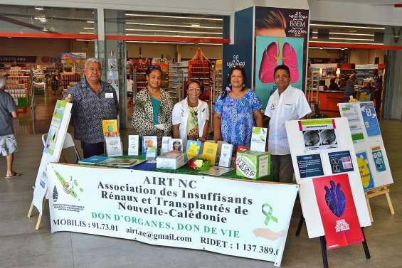 Un stand d'information pour inciter au don d'organes