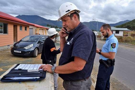 Vaste opération de contrôle du travail dissimulé à Païta, sur un lotissement en construction