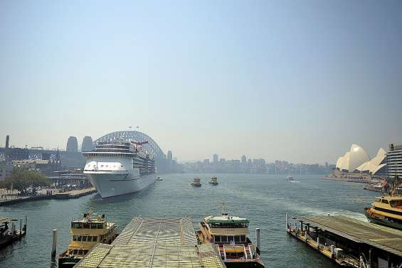 Sydney noyée dans un nuage de fumée