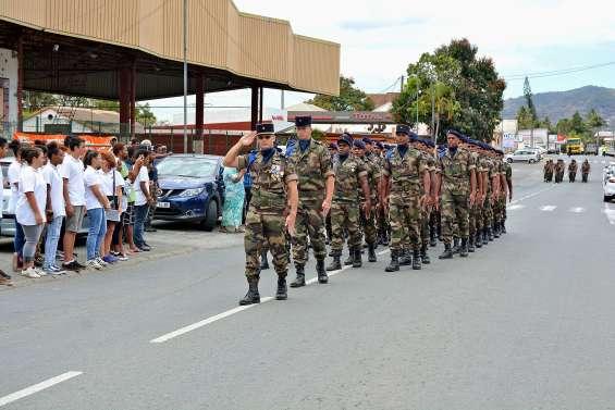 Le régiment du service militaire adapté s'est présenté aux Bouraillais