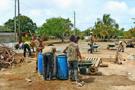 Douze jeunes du RSMA en chantier à Gossanah