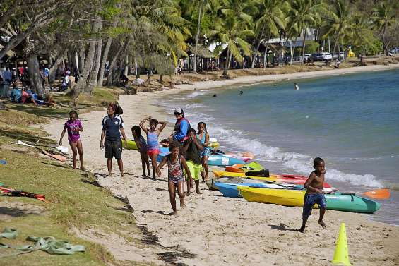 Sport action se termine en beauté, les pieds dans l'eau