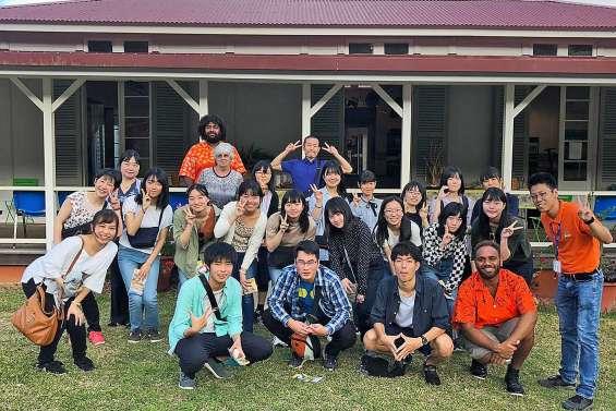 Visite d'étudiants du Lycée Sainte-Ursule de Sendai