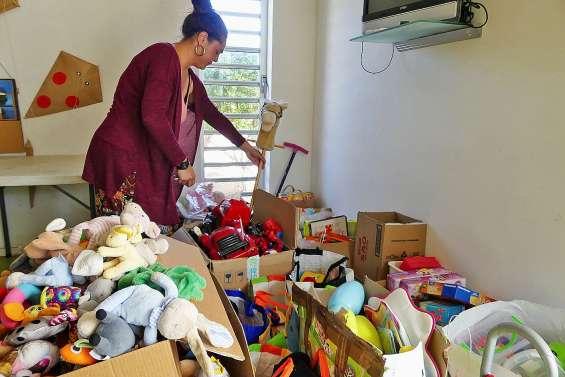 Des jouets collectés au Centre d'initiation à l'environnement