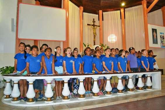 Les petits chanteurs de Saint-Joseph ont assuré le show