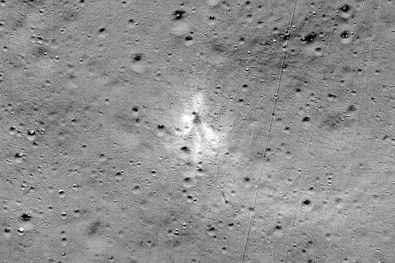 La Nasa a trouvé le lieu d'impact de la sonde Vikram sur la Lune