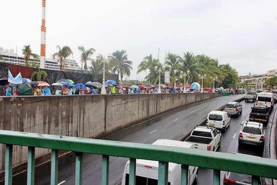 Grève nationale pour les retraites : forte mobilisation à Papeete