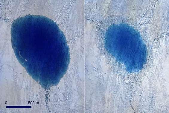 Des lacs qui se vident en quelques heures un kilomètre plus bas