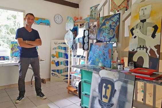 Mathieu Venon expose à la maison