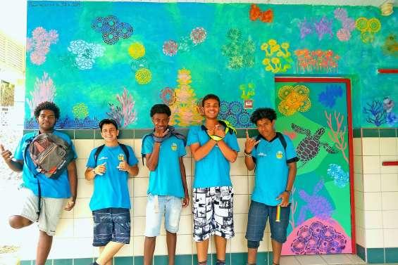 De la couleur sur les murs de la vie scolaire du collège