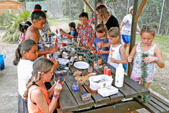 Des ateliers créatifs au centre aquatique