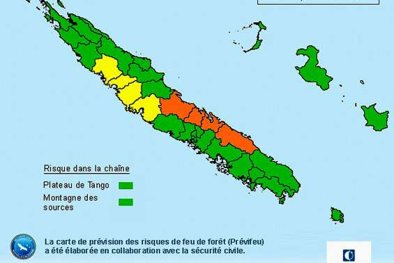 Le niveau de risque de feu de forêt est en baisse