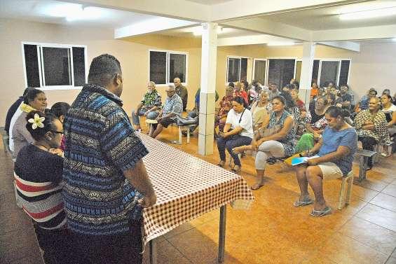 Première réunion de quartier de la liste de l'Eveil océanien