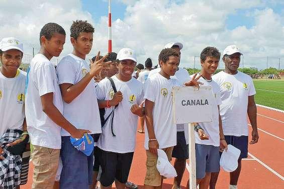 Les jeunes footballeurs de Canala en compétition à Maré