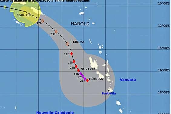 La dépression tropicale Harold devrait épargner le Caillou