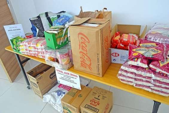 Opération collecte de dons aujourd'hui en supermarchés
