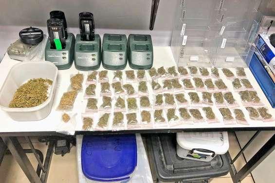 La police interpelle deux trafiquants présumés de cannabis