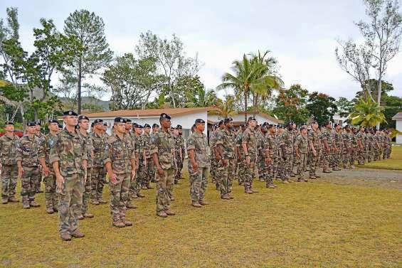 Relève un peu particulière  au camp militaire de Nandaï