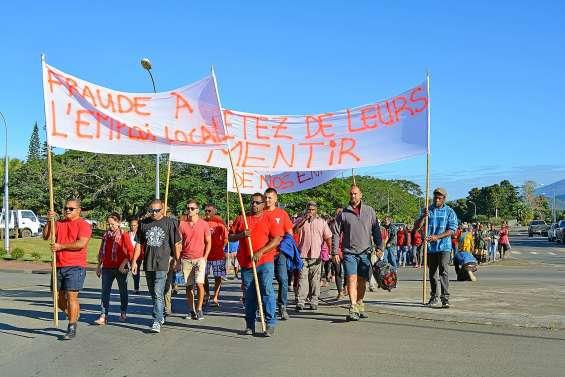 Une manifestation pour dénoncer le non-respect de l'emploi local