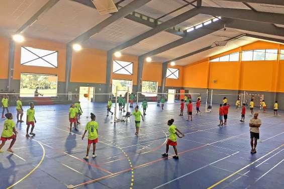 150 jeunes volleyeurs en UNSS  en salle omnisports