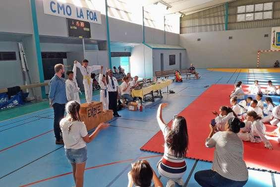 Une compétition de taekwondo s'est déroulée au village