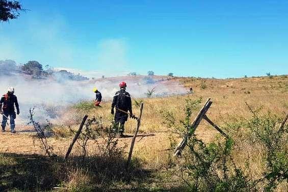 La Sécurité civile se forme au contre-feu comme technique d'extinction des incendies