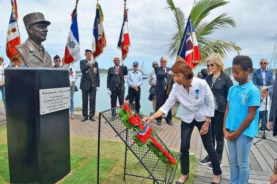 Le buste de De Gaulle qui rend hommage aux Calédoniens partis au combat