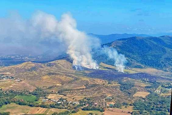 Plus de 150 hectares de végétation brûlés La Foa