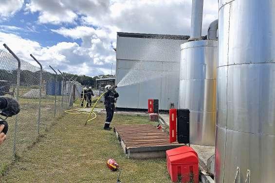 Exercice incendie à la centrale électrique