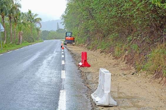 Des travaux sur la RP20, dans le col de Gouaro